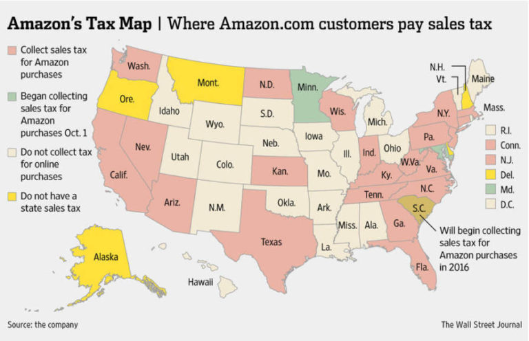 Minnesota and Maryland Start Sales Tax From Purchases Made On Amazon