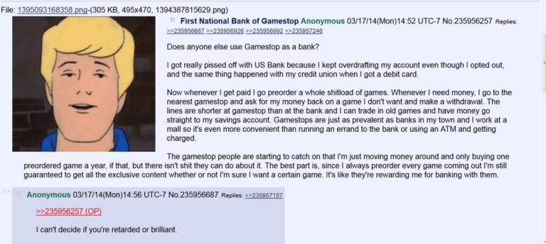This Man Uses GameStop As A Bank