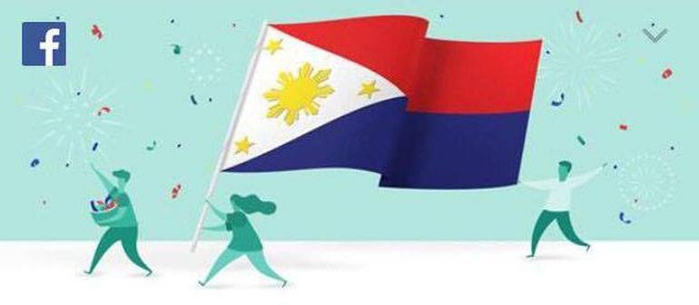 Facebook Philippines Flag Inverted