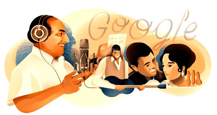 Google Honors Mohammed Rafi's 93rd birthday