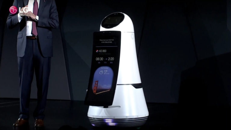 LG To Showcase It's Three New Concept Robots At CES 2018